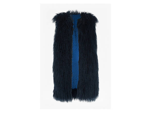 French Connection Chicago faux fur  gilet, $228, at usa.frenchconnection.com