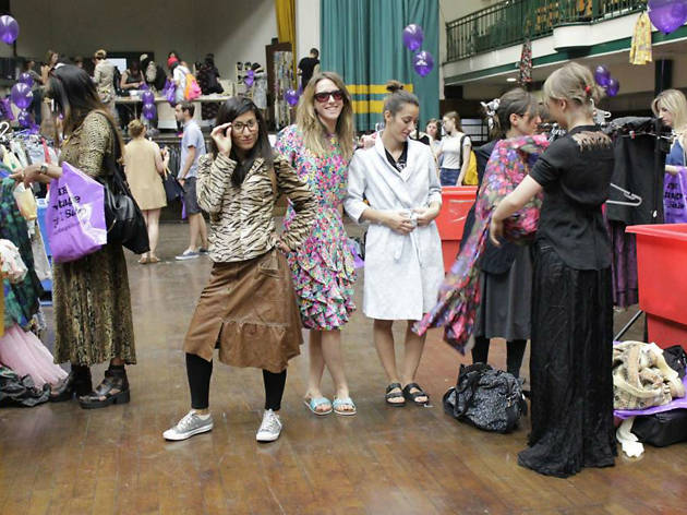 Photo of shoppers at the vintage kilo sale