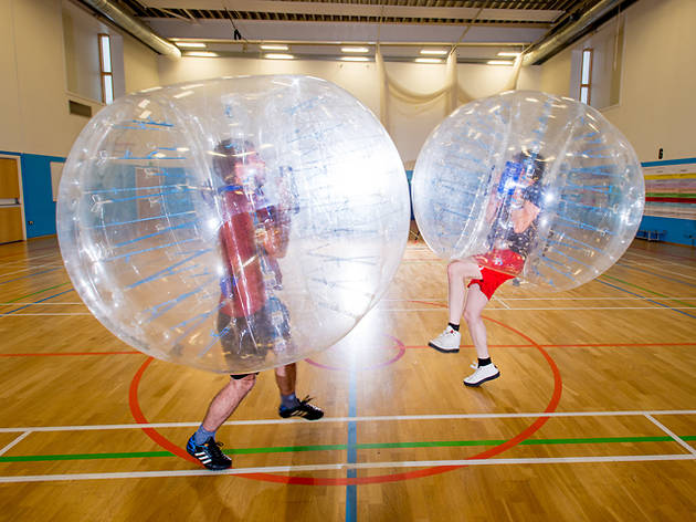 Weird workouts: have a ball with bubble football