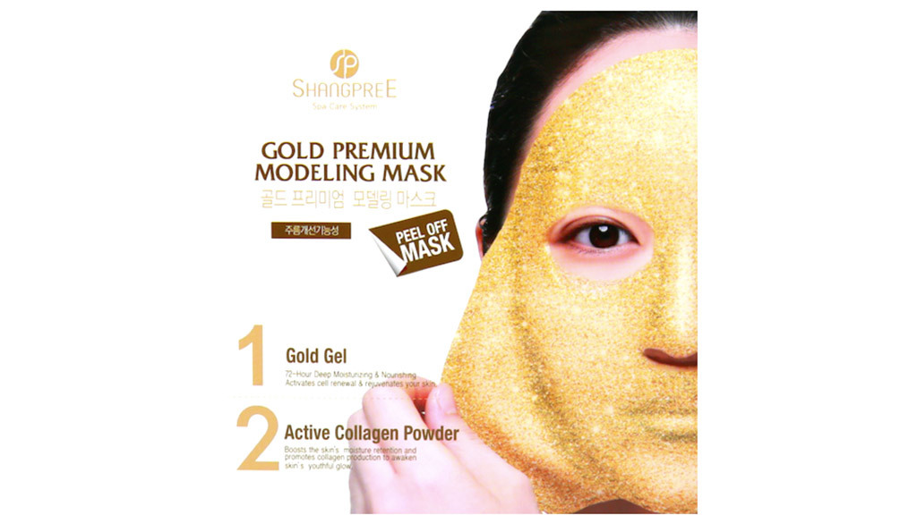 Peach and Lily Gold Premium Modeling mask, $20, at peachandlily.com