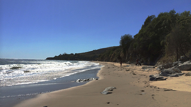 Refugio State Beach, just west of Santa Barbara