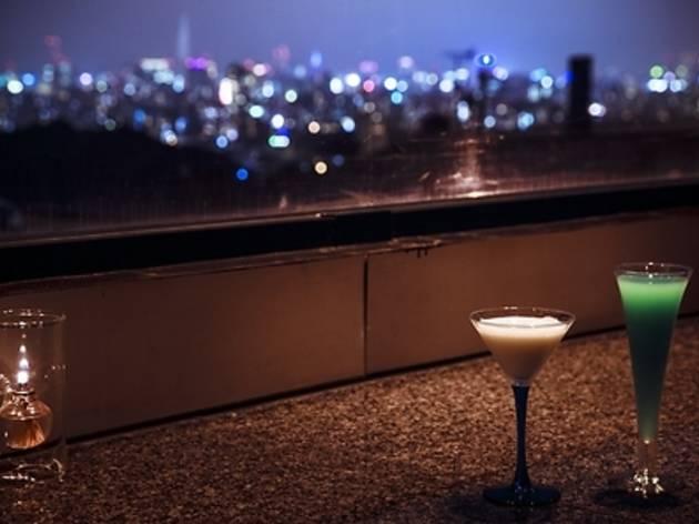 夜景は住宅街から見る。