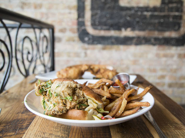 Oyster Po Boy with Beef Fat Frites