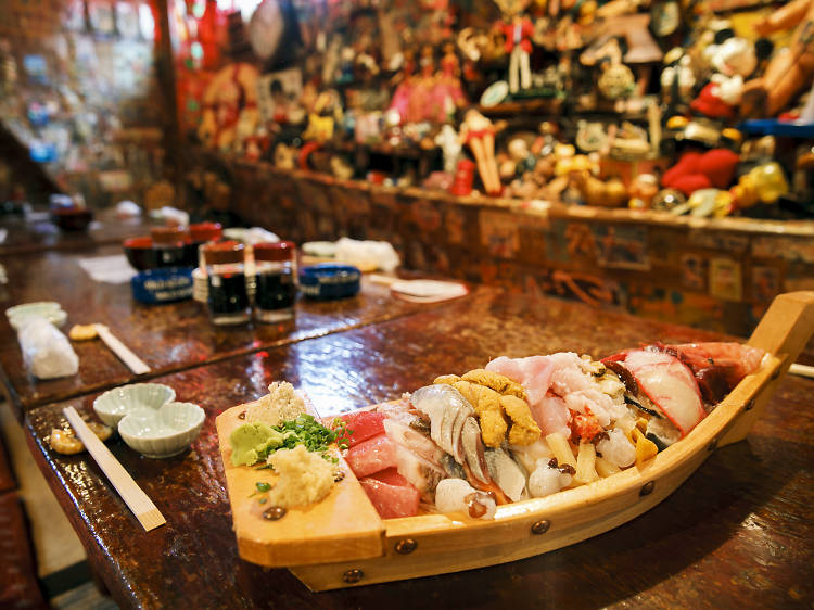 Order a boat of sashimi