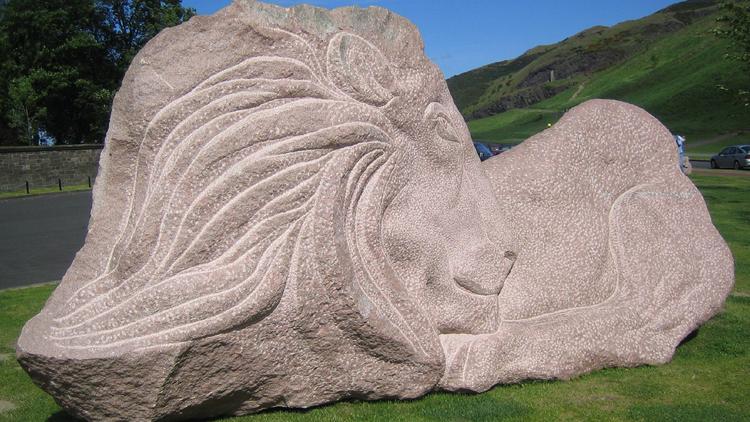 lion arthur's seat sculpture