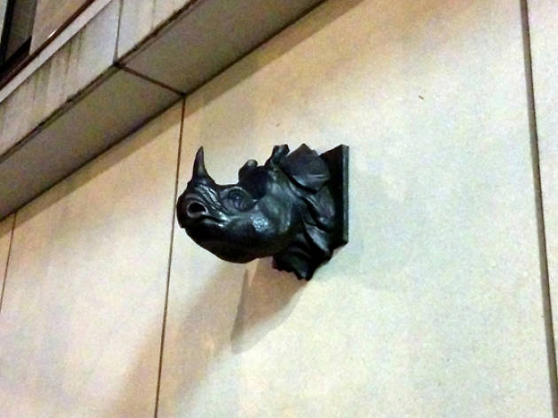 rhino head sculpture