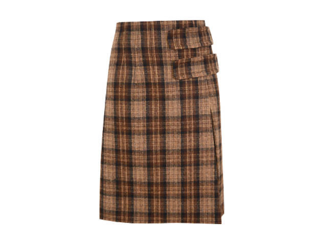 Inverness checked wool skirt, £155