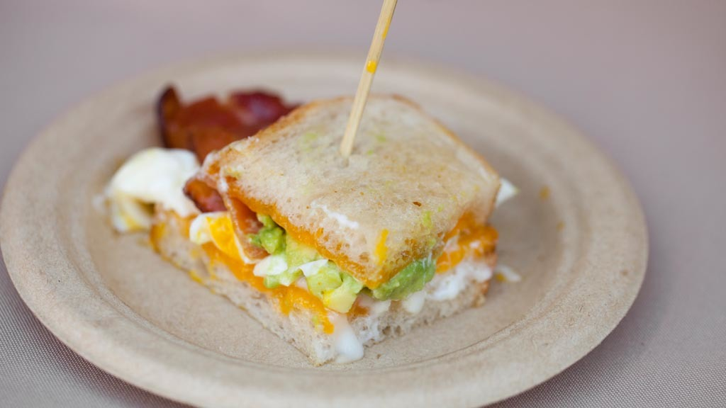 Breakfast sandwich from The Hudson at The Taste 2015
