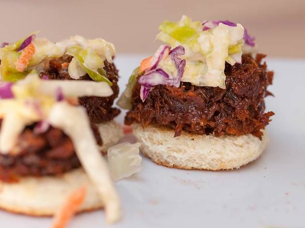 "Vegan BBQ ""pork"" canapé from Doomie's at The Taste 2015"