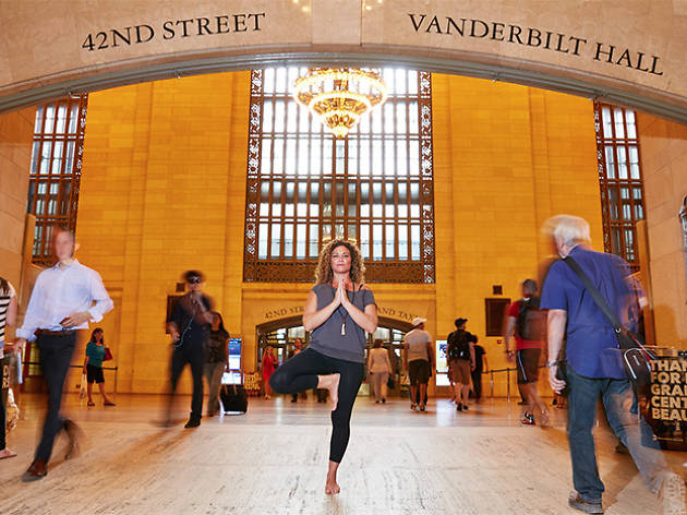 Take a free yoga class in Grand Central Terminal for National Yoga Month