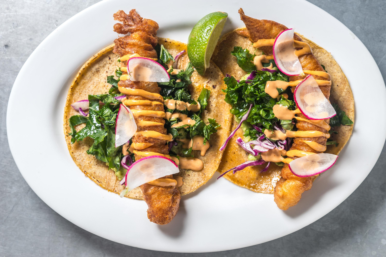 SEAMORE'S crispy fish tacos