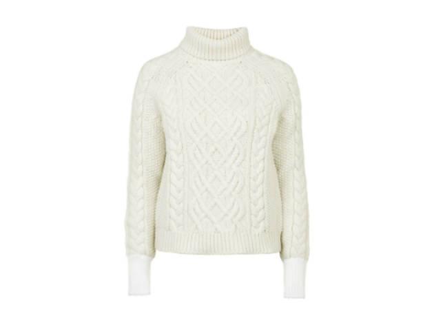 Keswick chunky polo knit jumper, £175
