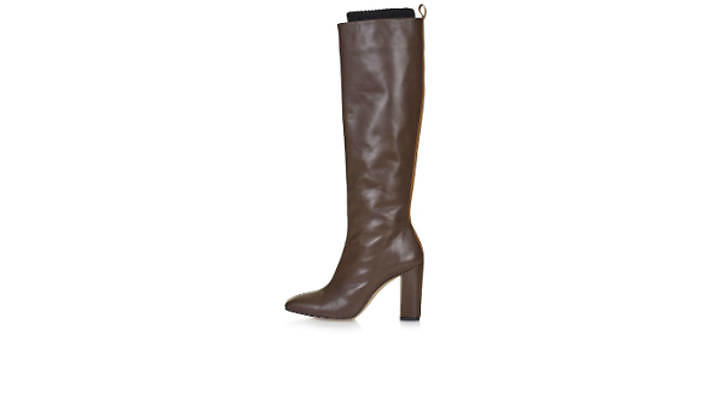 Leather high leg boots, £225