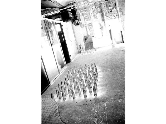 'Silver Coke Bottles Drying on the Factory Floor', 1964