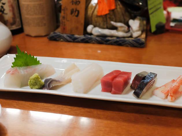 海鮮には日本酒を合わせる。