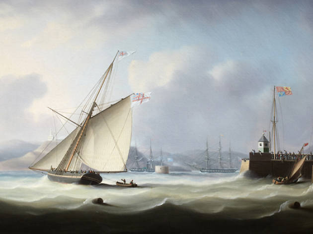 Thomas Buttersworth, The Arrival of George IV at Leith Harbour, 1822