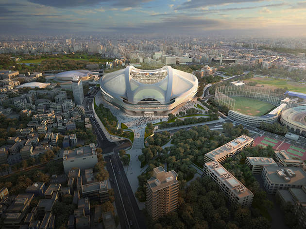 Stadium design by Zaha Hadid Architects