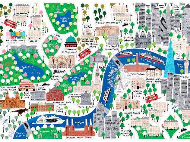 Map To London.This Kids Map Belongs On Every London Lover S Wall
