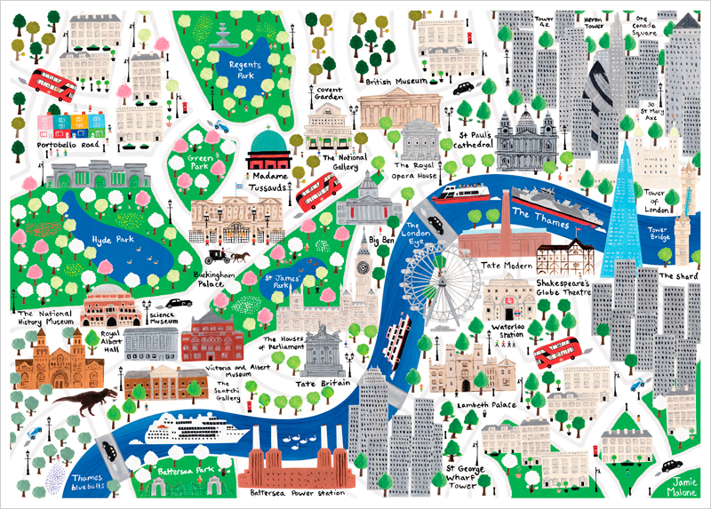 This kids map belongs on every Londonlovers wall