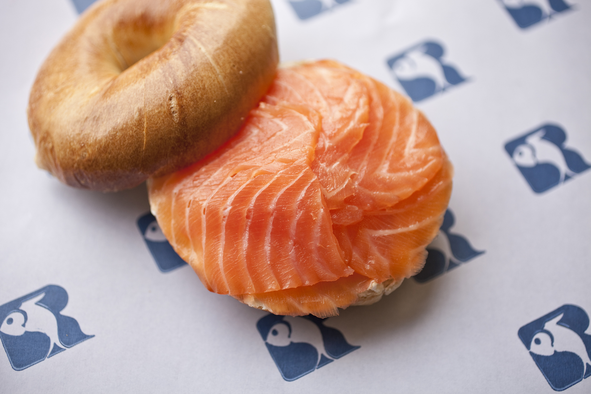 Bagel with lox at Russ & Daughters
