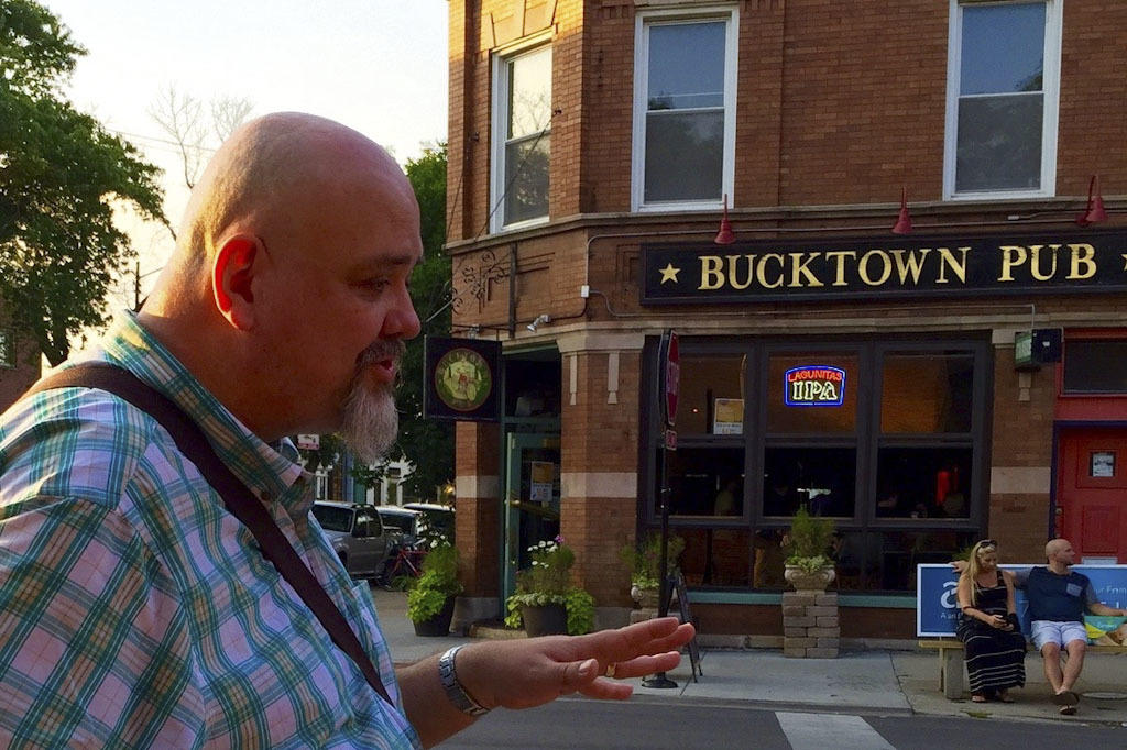 Bizarre Bucktown guide Gordon Meyer