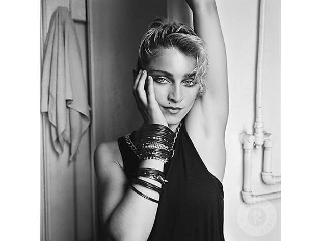 Madonna photographed in 1982 in New York City for a cover shoot for Time Out magazine, a year before her shot to superstardom.