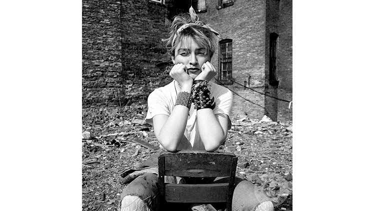 Madonna photographed in New York City in 1982.