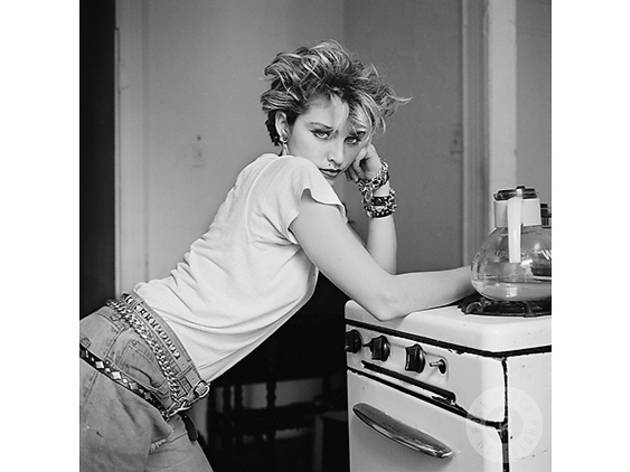 Madonna photographed at her apartment in Alphabet City in New York's Lower East Side.