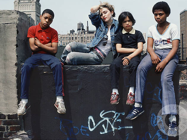Madonna photographed in the Lower East Side in 1982.