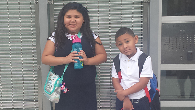 Yunalix (9) and Ali (5), Bronx