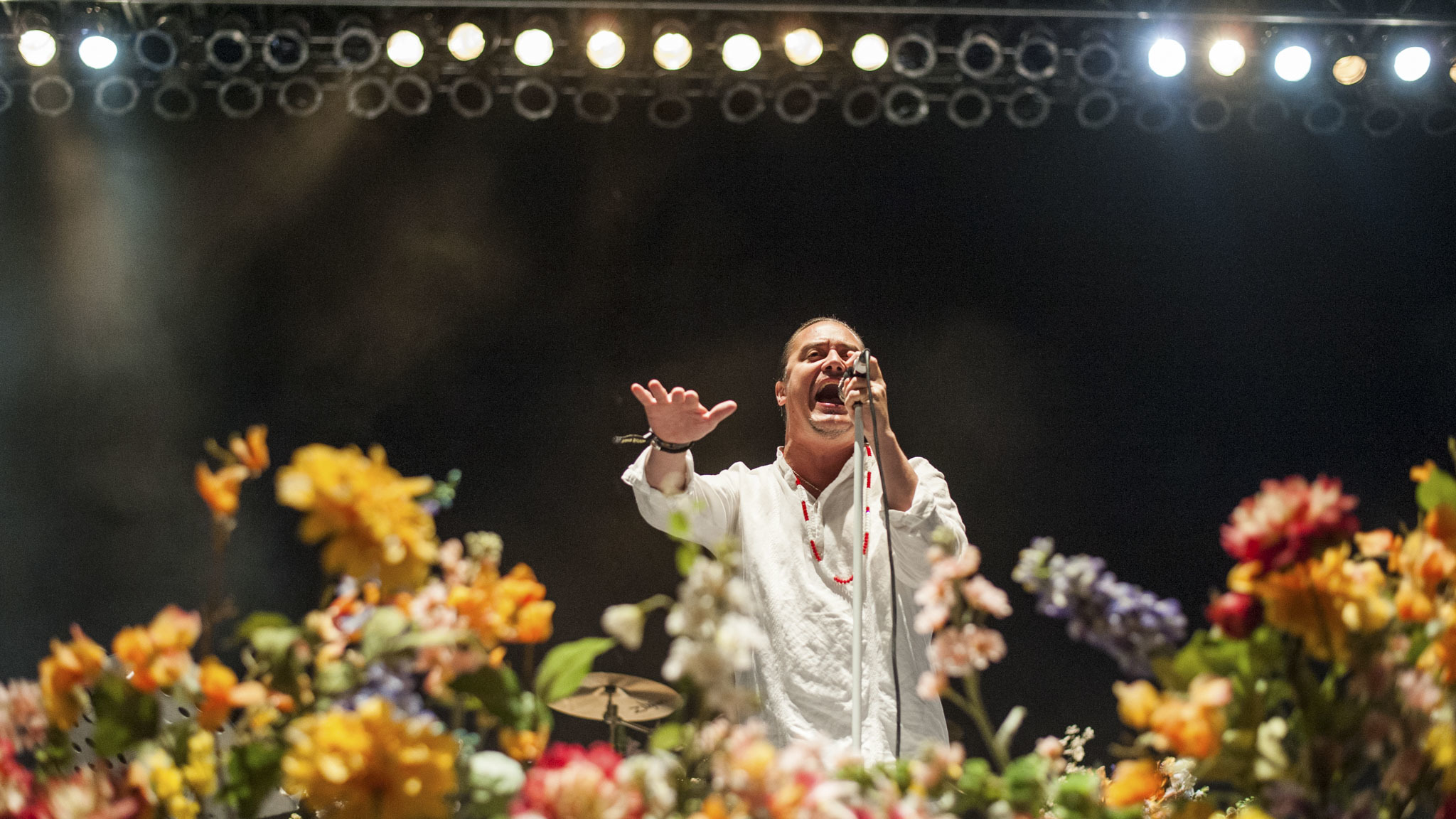 Faith No More performed in Douglas Park on day one of Riot Fest, September 11, 2015.