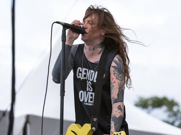 Against Me! performed in Douglas Park on day one of Riot Fest, September 11, 2015.