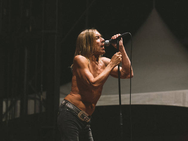Iggy Pop took the stage on day two of Riot Fest, September 12, 2015.
