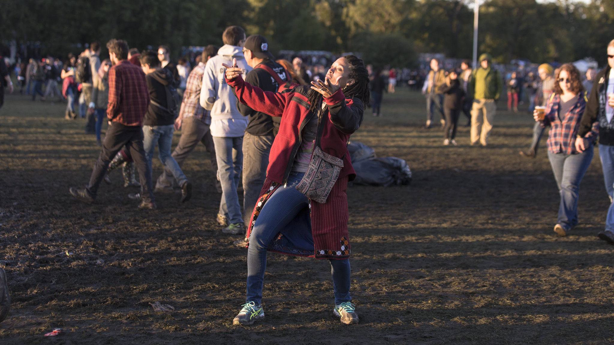 Crowds trudged through muddy fields during the second day of Riot Fest, September 12, 2015.