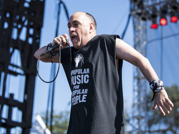 The Dead Milkmen took the stage on day two of Riot Fest, September 12, 2015.