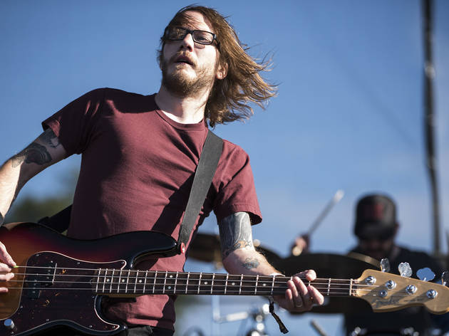 Desaparecidos took the stage on day two of Riot Fest, September 12, 2015.