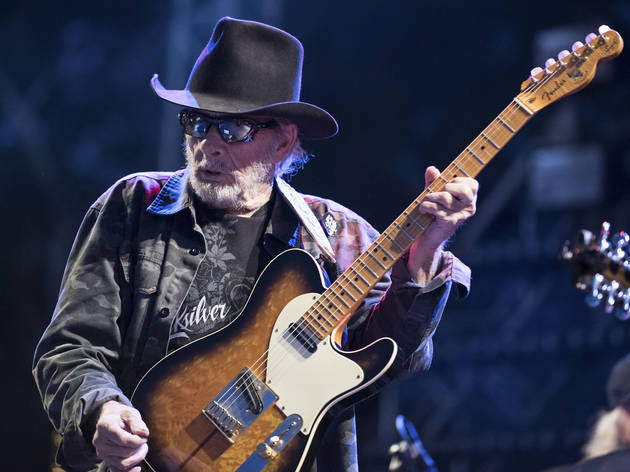Merle Haggard took the stage on day two of Riot Fest, September 12, 2015.