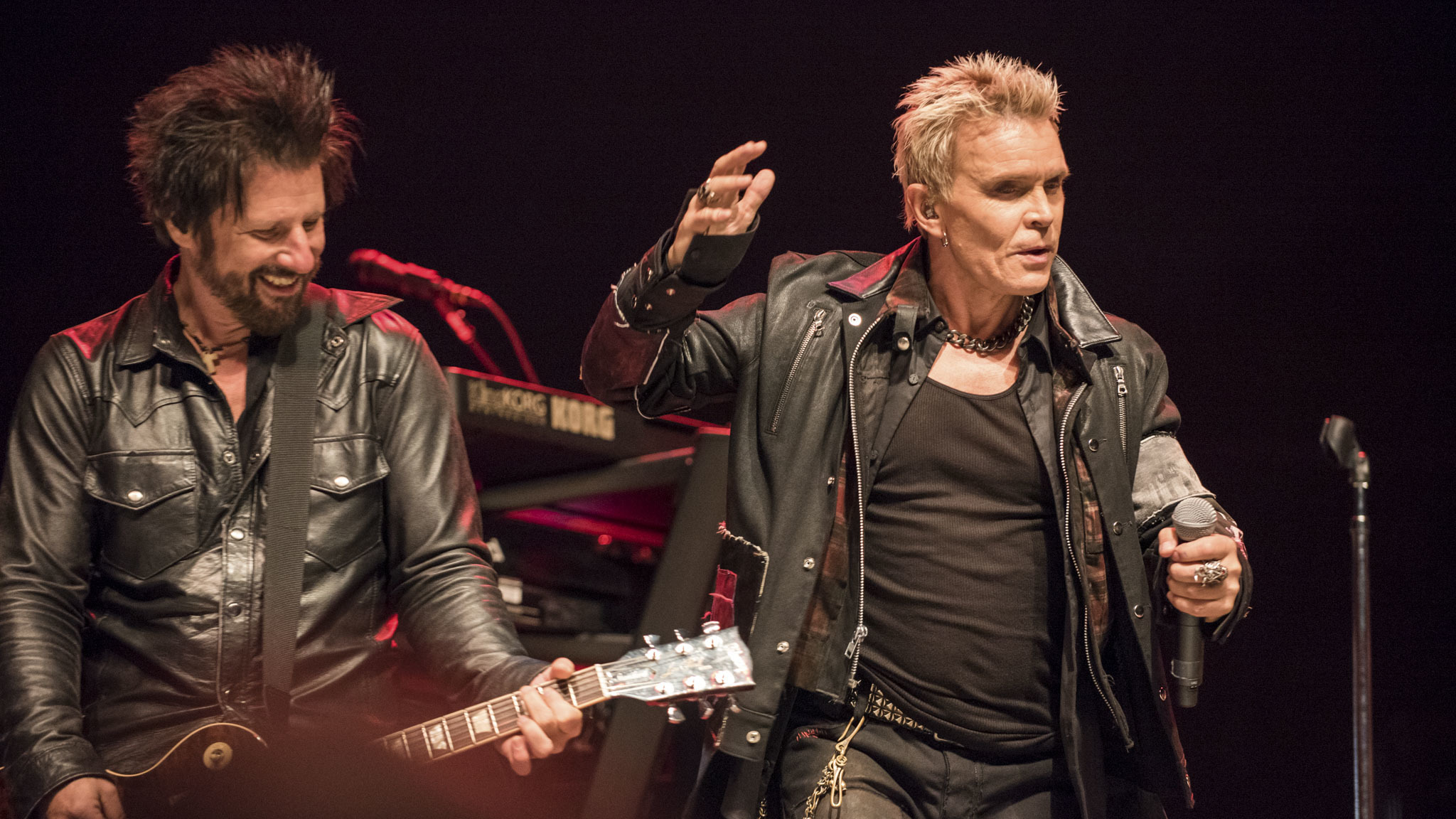 Billy Idol took the stage on day two of Riot Fest, September 12, 2015.