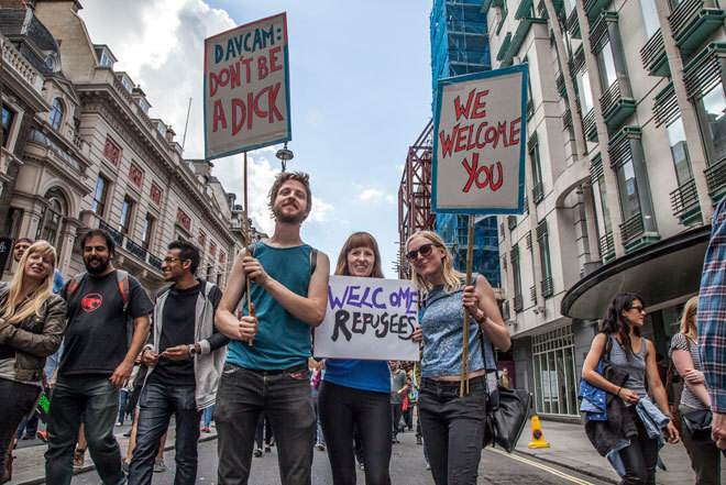23 inspiring pictures of the Solidarity With Refugees march in London