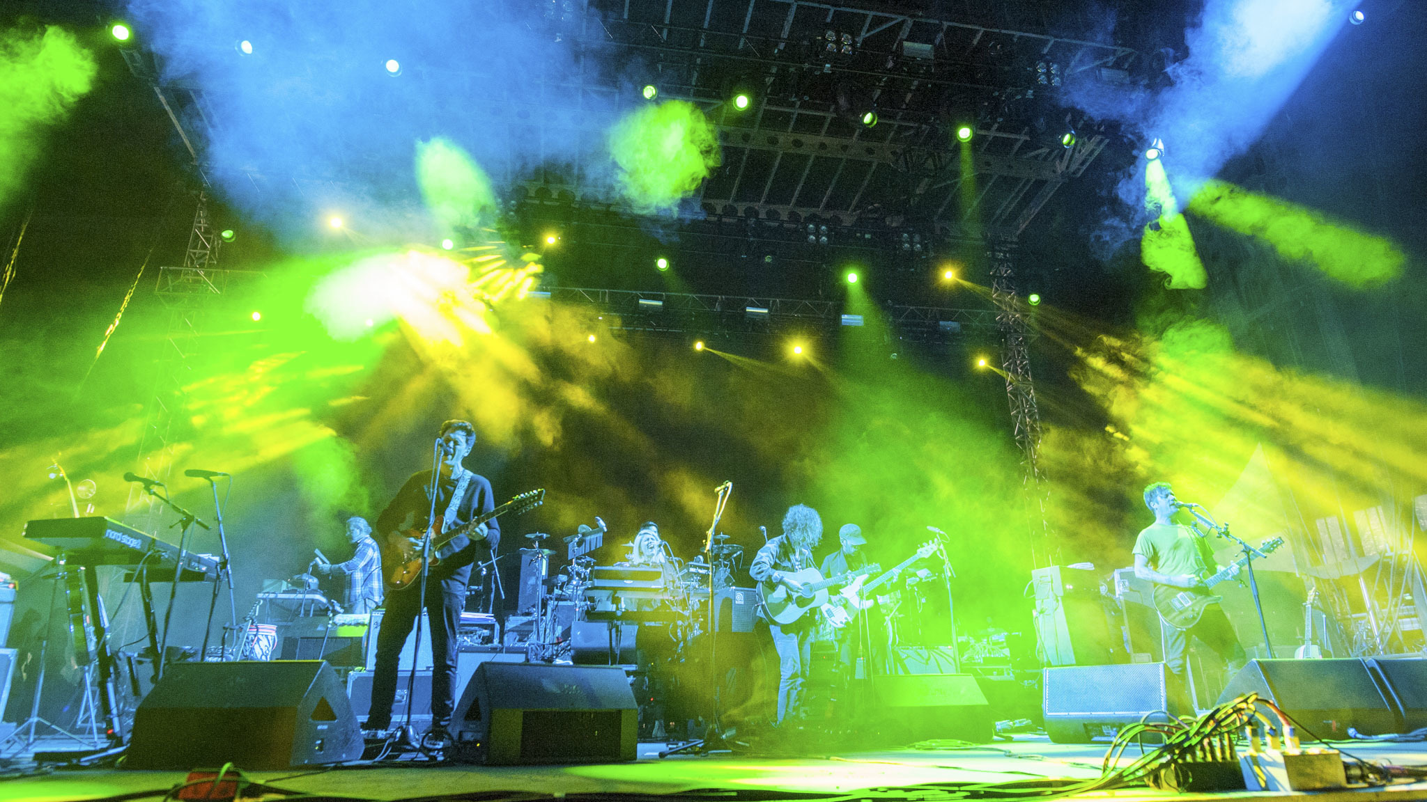 Modest Mouse turned in a set on the final day of Riot Fest, September 13, 2015.