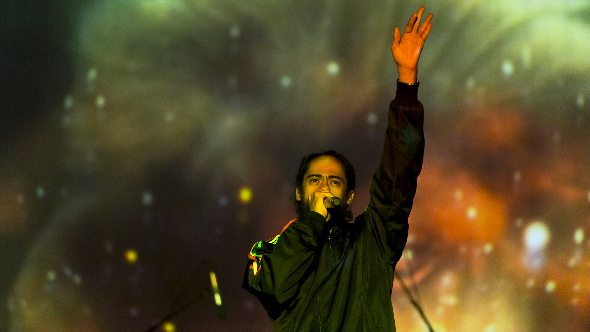 """Damian """"Jr Gong"""" Marley turned in a set on the final day of Riot Fest, September 13, 2015."""
