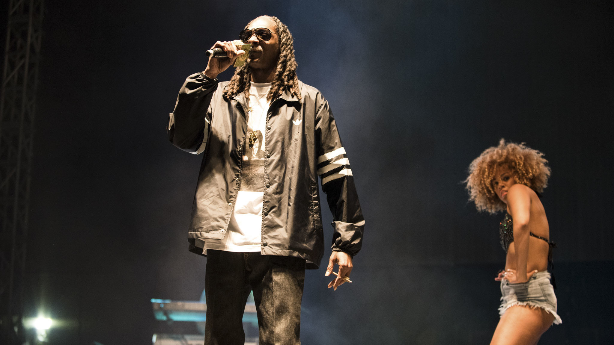 Snoop Dogg turned in a set on the final day of Riot Fest, September 13, 2015.