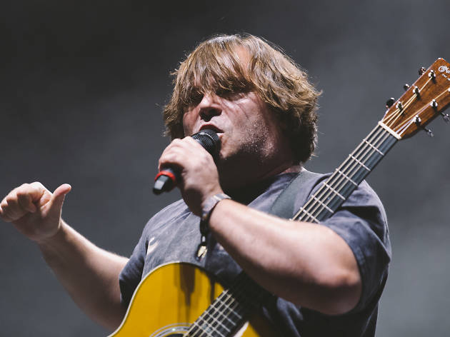 Tenacious D turned in a set on the final day of Riot Fest, September 13, 2015.