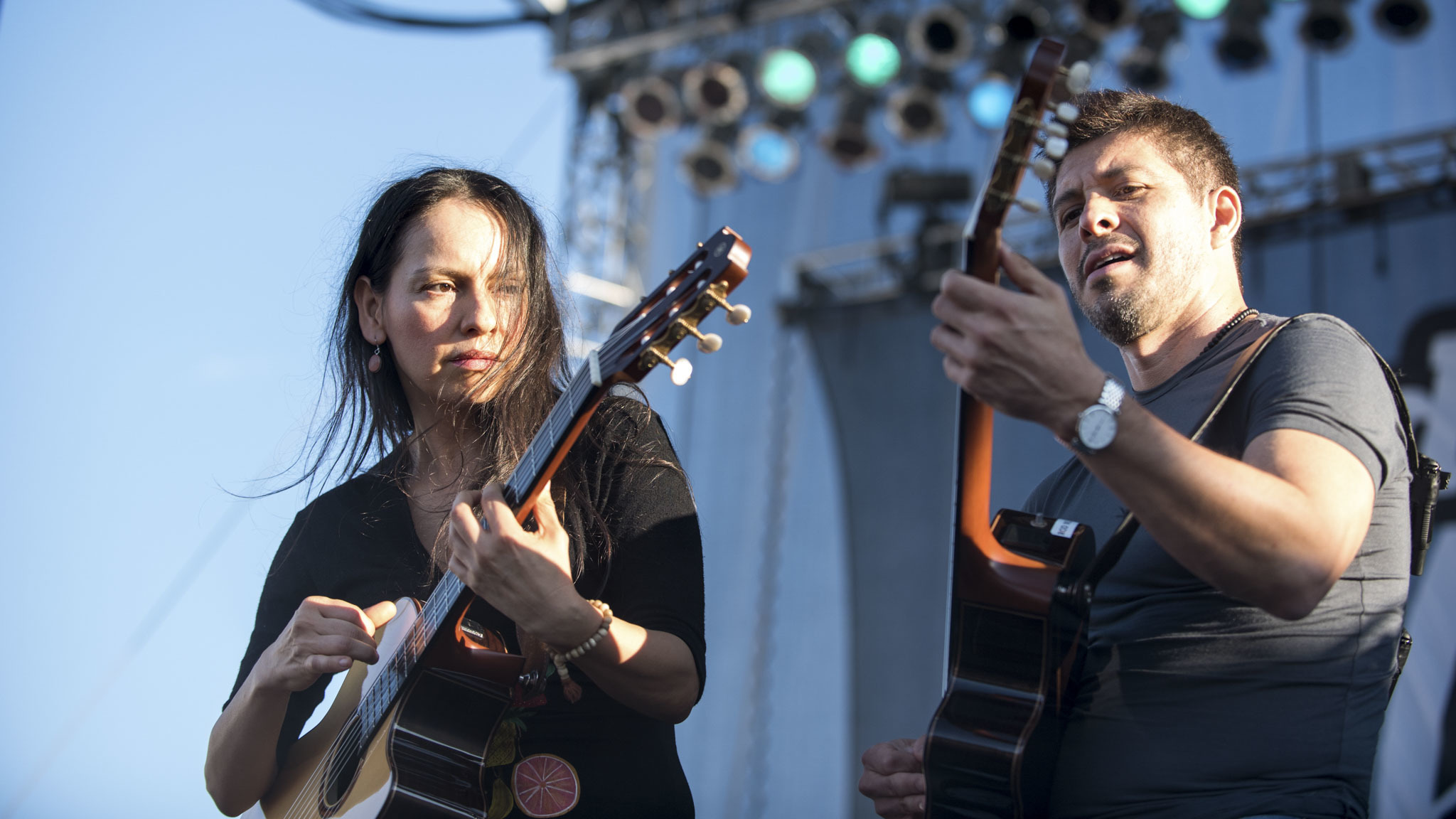 Rodrigo y Gabriela turned in a set on the final day of Riot Fest, September 13, 2015.