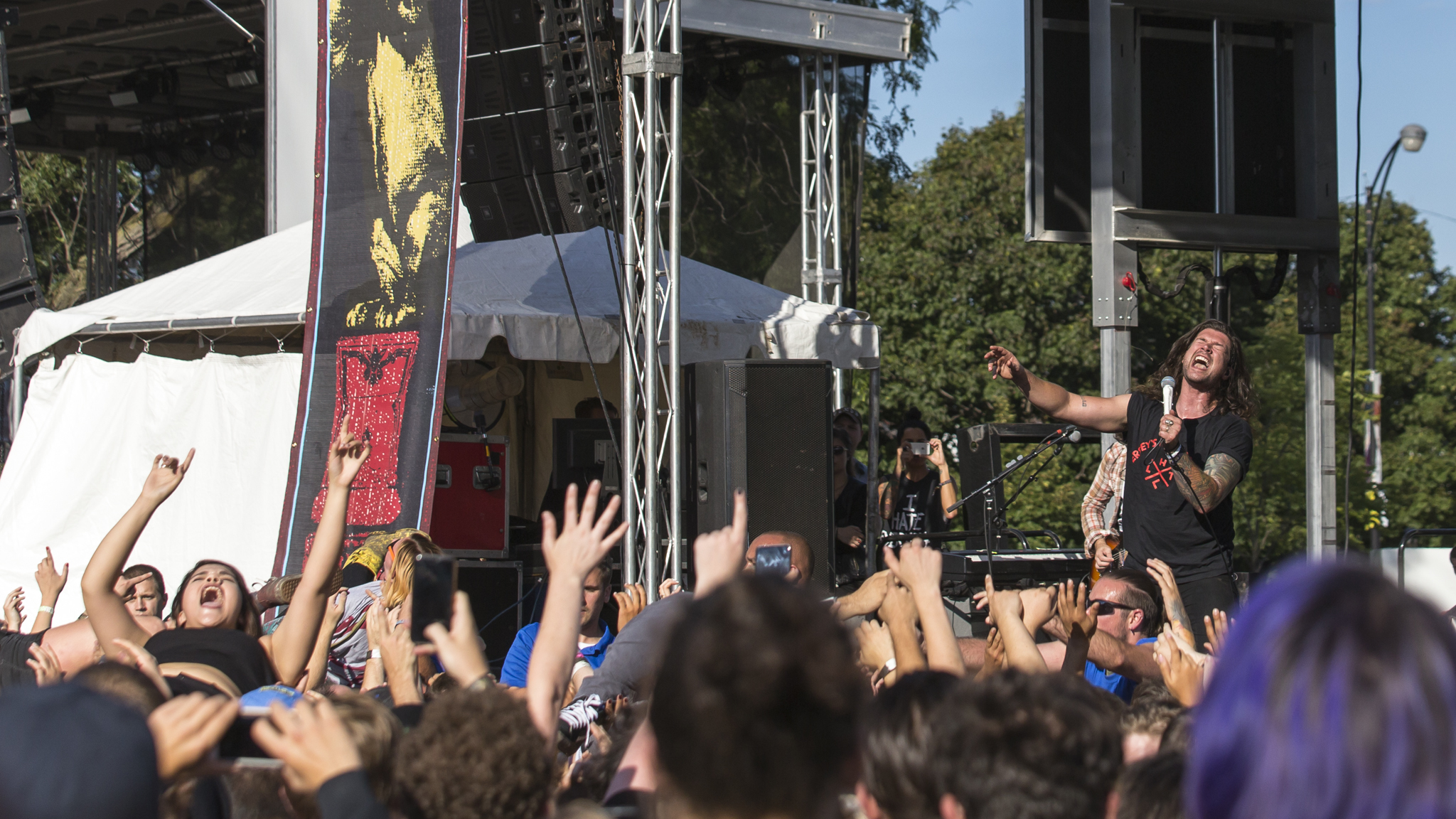 Taking Back Sunday turned in a set on the final day of Riot Fest, September 13, 2015.