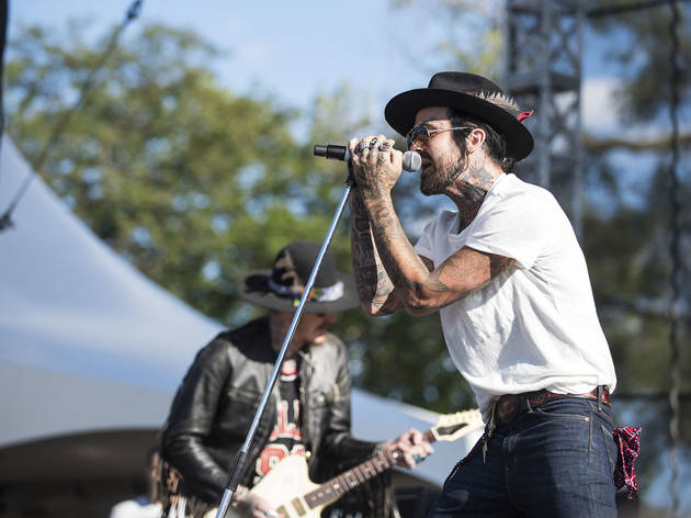 Yelawolf turned in a set on the final day of Riot Fest, September 13, 2015.