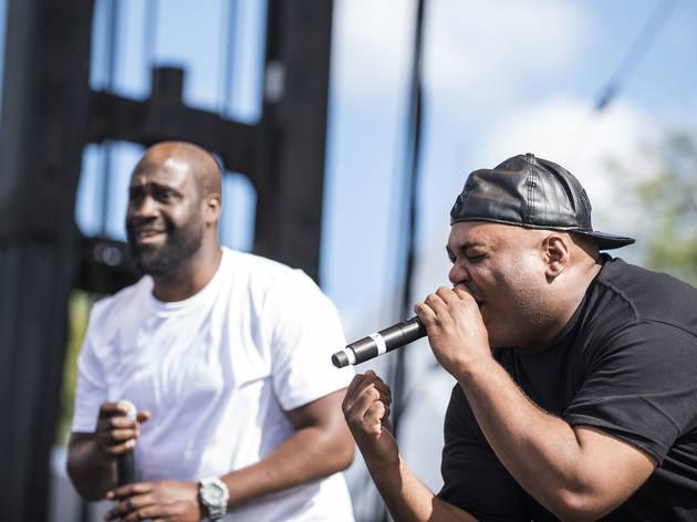De La Soul turned in a set on the final day of Riot Fest, September 13, 2015.