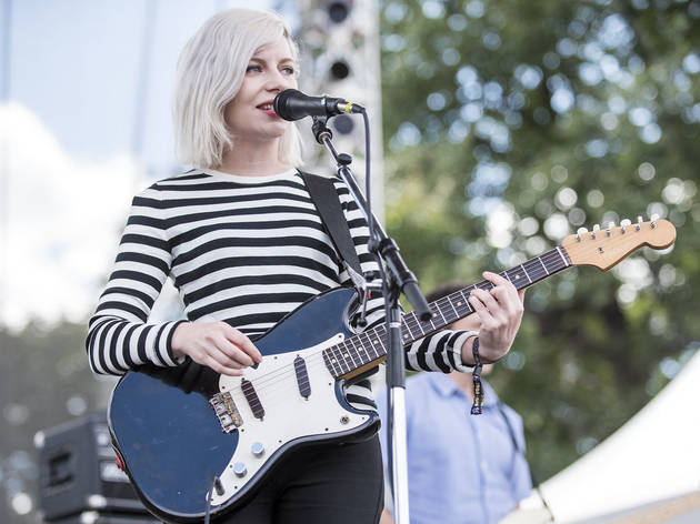 Alvvays turned in a set on the final day of Riot Fest, September 13, 2015.