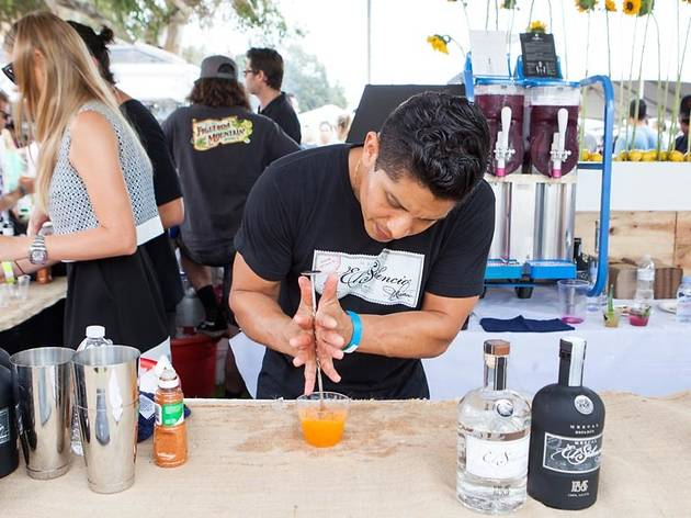 El Silencio mezcal cocktail at L.A. Loves Alex's Lemonade 2015