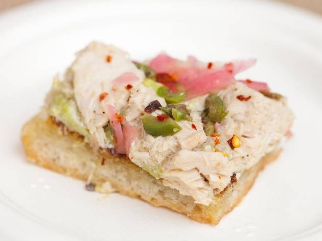 Olive oil poached albacore tuna toast from Love & Salt at L.A. L